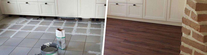 Nieuwe vloer op bestaande tegels leggen: kan dit?