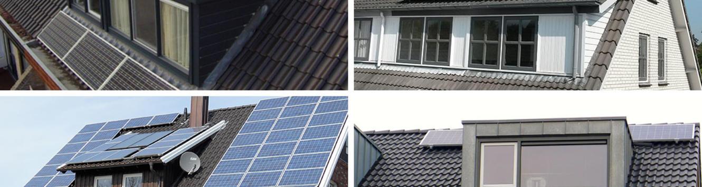 Zonnepanelen op dakkapel