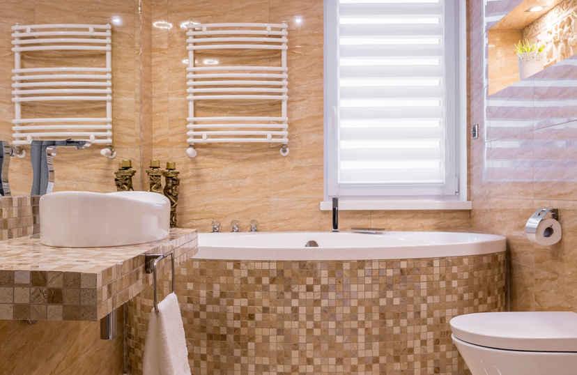 Duo rolgordijn badkamer