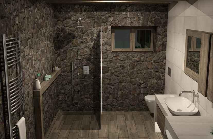 Badkamer in kelder