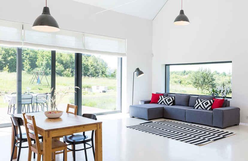 Keramische tegels in woonkamer