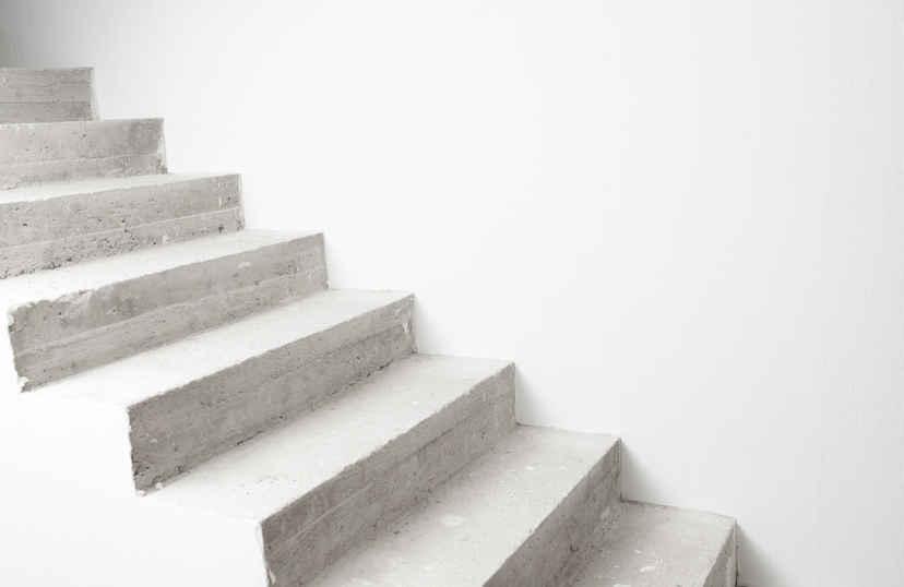 Gestorte betontrap
