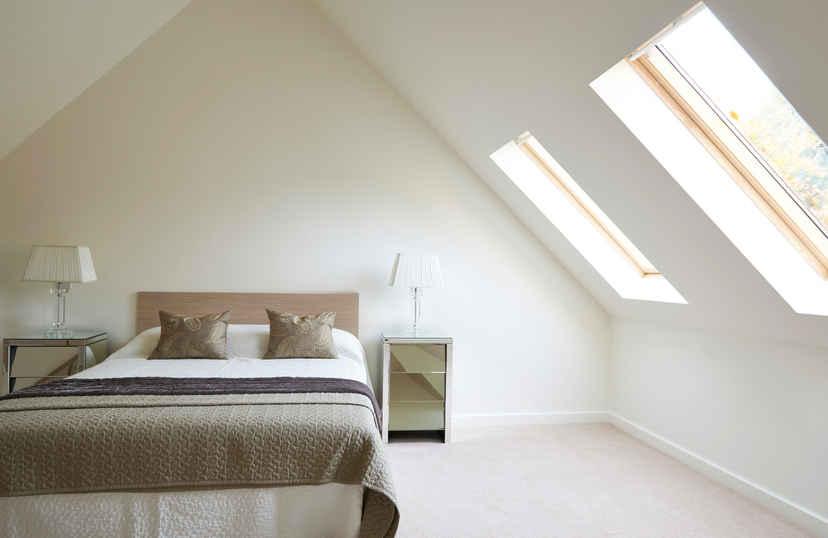 Zeer lichte slaapkamer