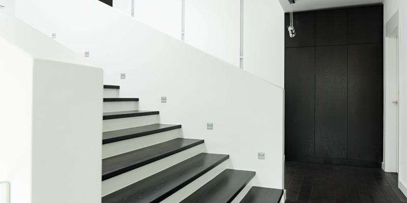 zwart witte trap