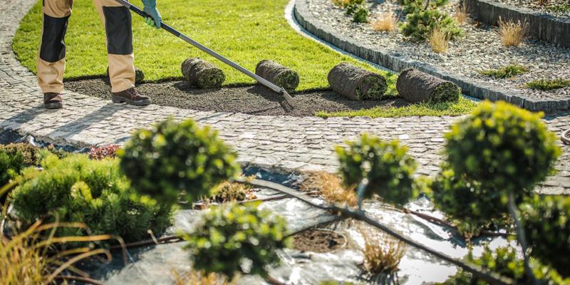 Rond pad in kleine tuin