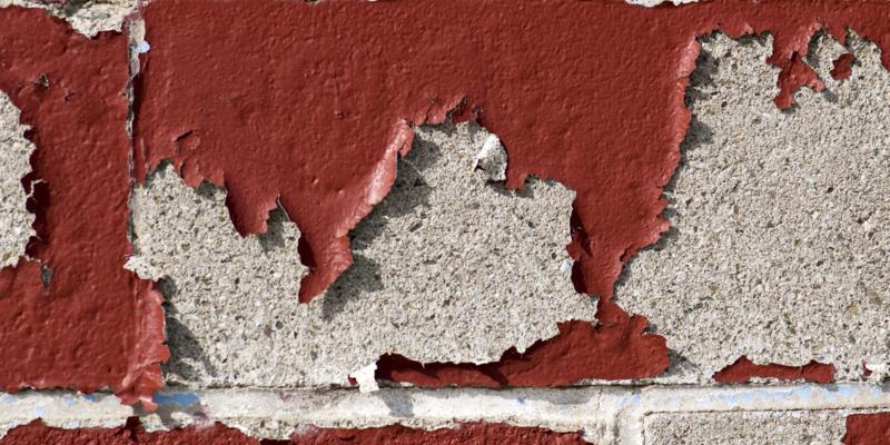Gebladderde muur