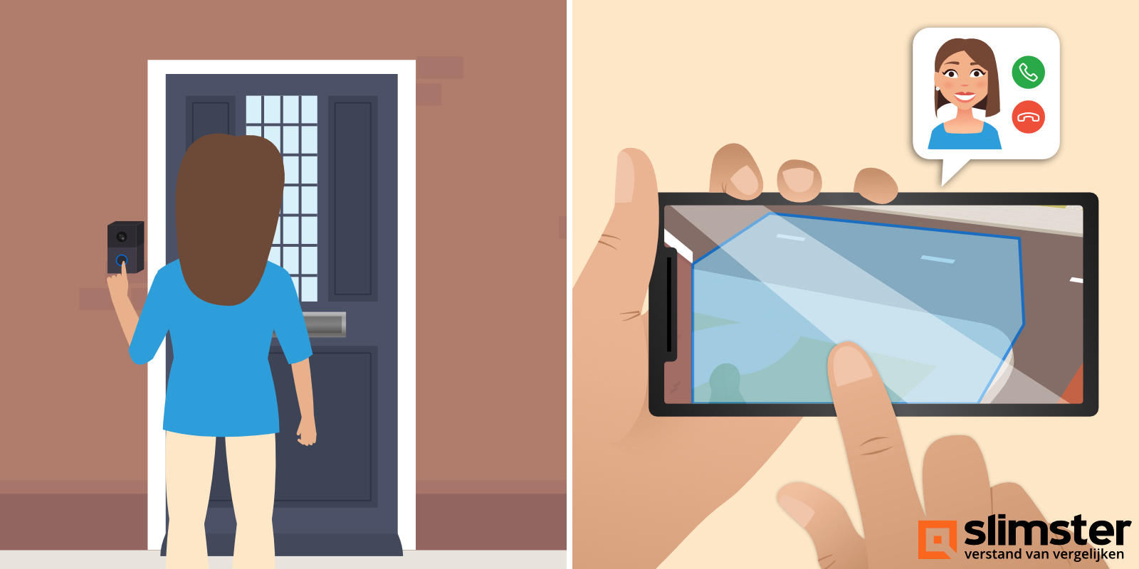 bewegingsdetectie instellen slimme deurbel
