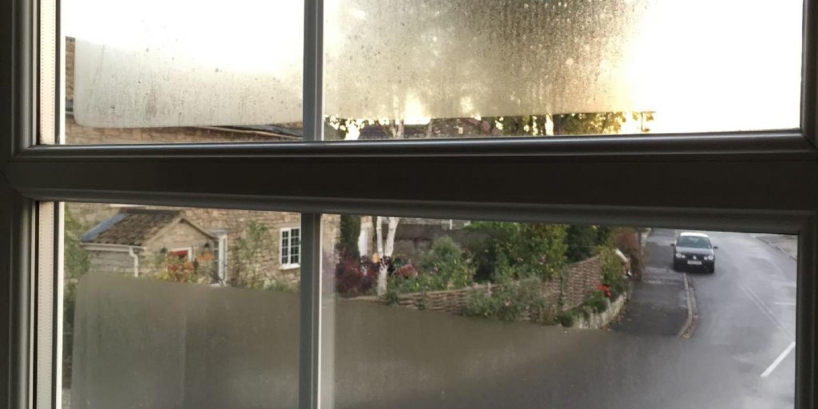 condens binnenkant raam dubbel glas