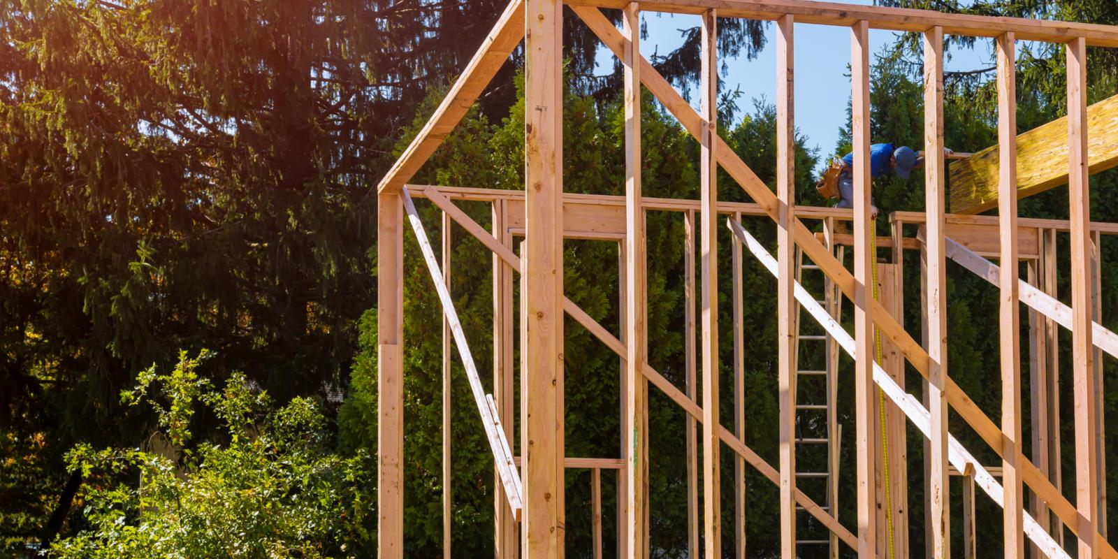 dakopbouw hout plaatsen