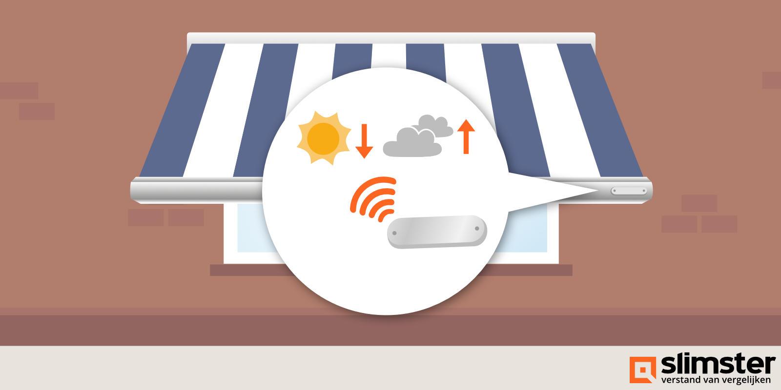 zonwering bedienen met sensoren