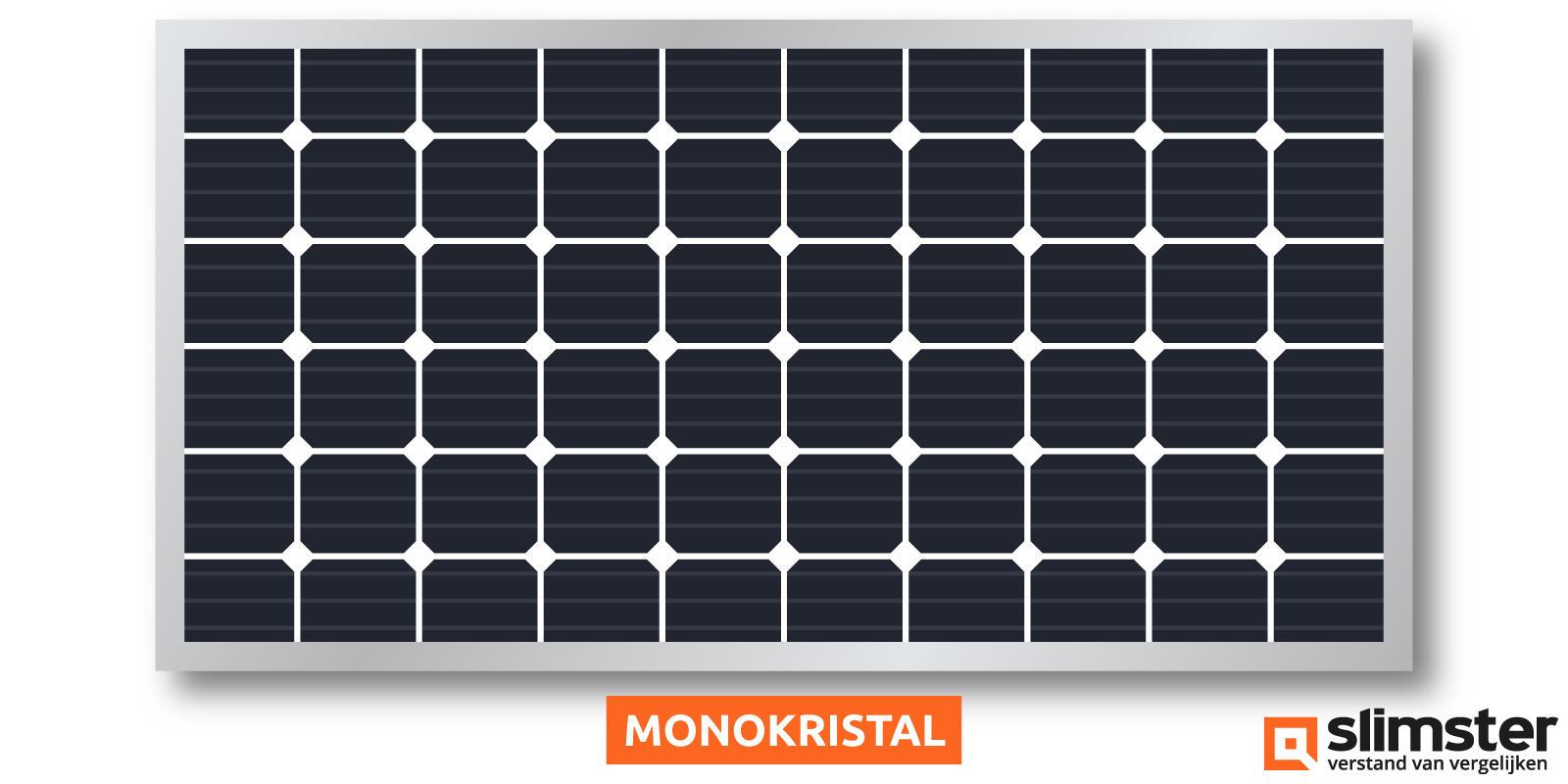monokristal zonnepanelen