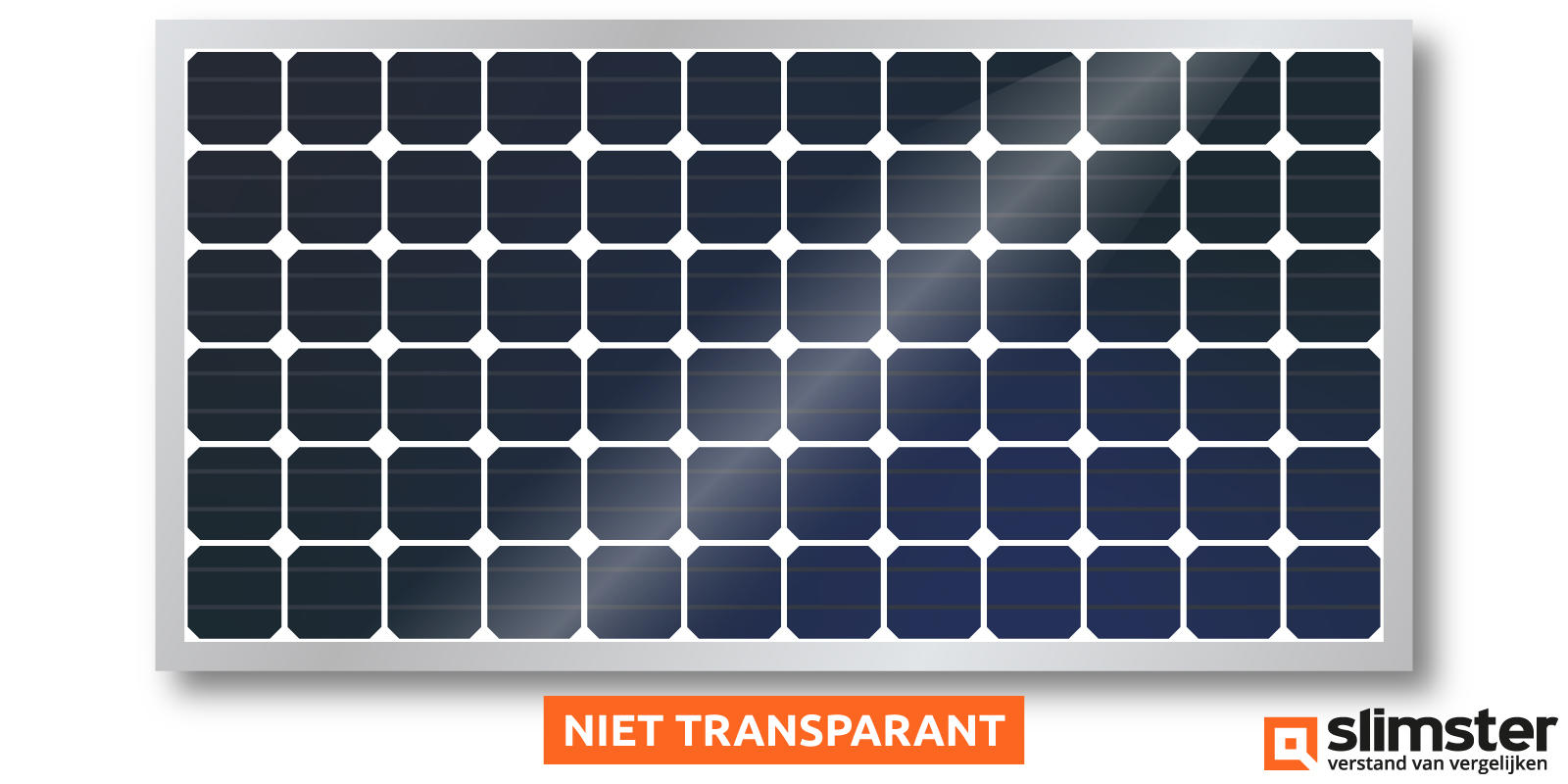 niet transparant dunne film zonnepaneel