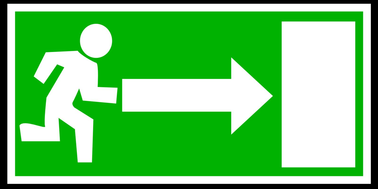 Nooduitgang pictogram