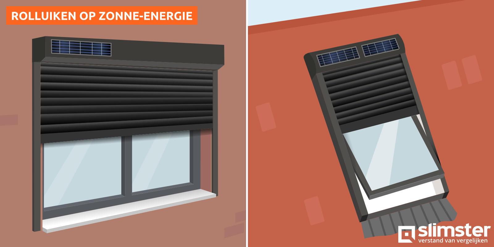rolluiken op zonne energie