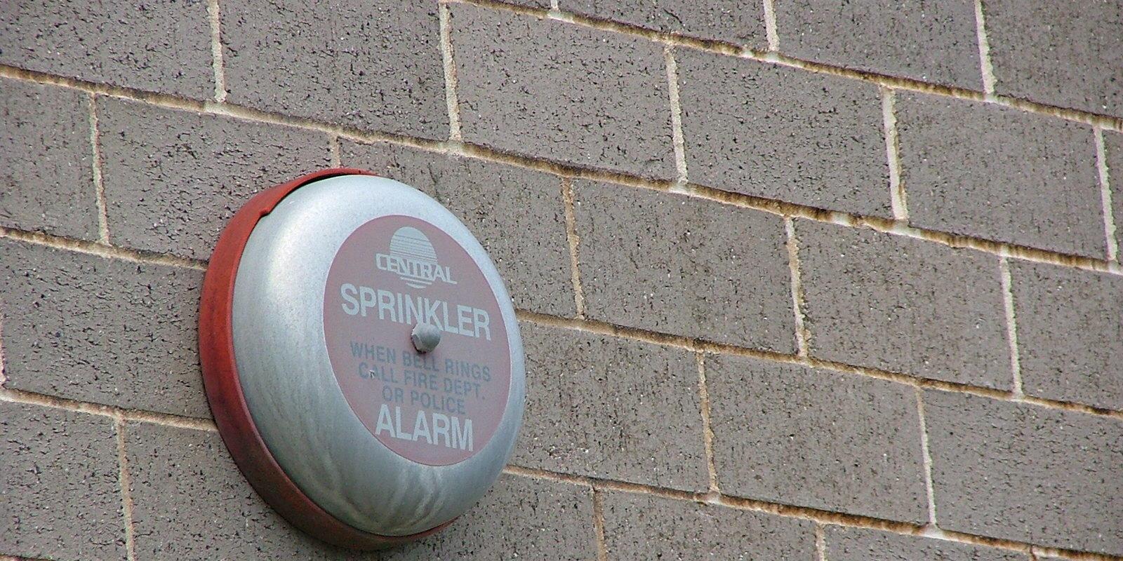 Sprinkler alarm