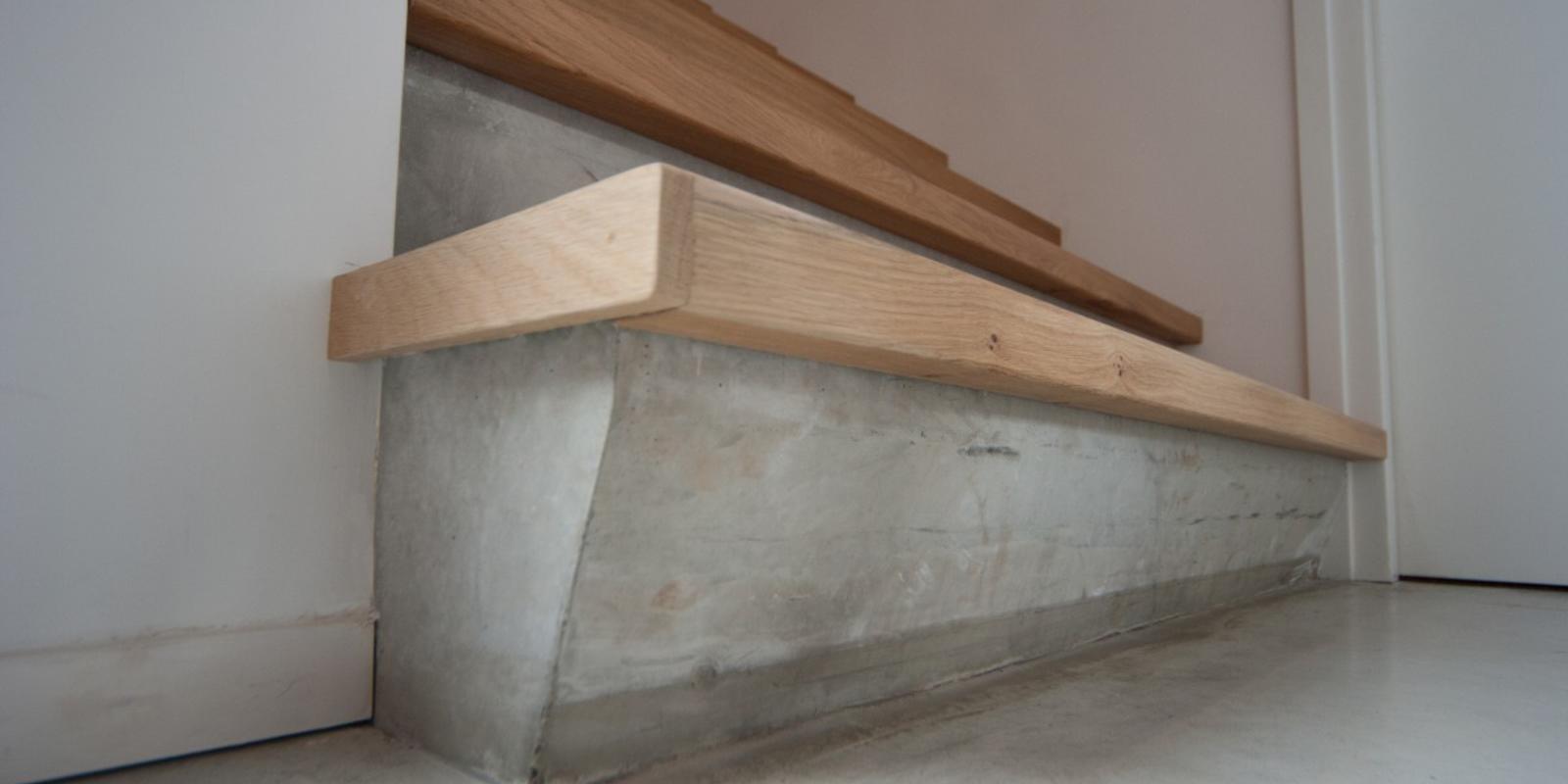 Betonnen trap bekleden 4 beste renovaties afwerking for Trap inspiratie