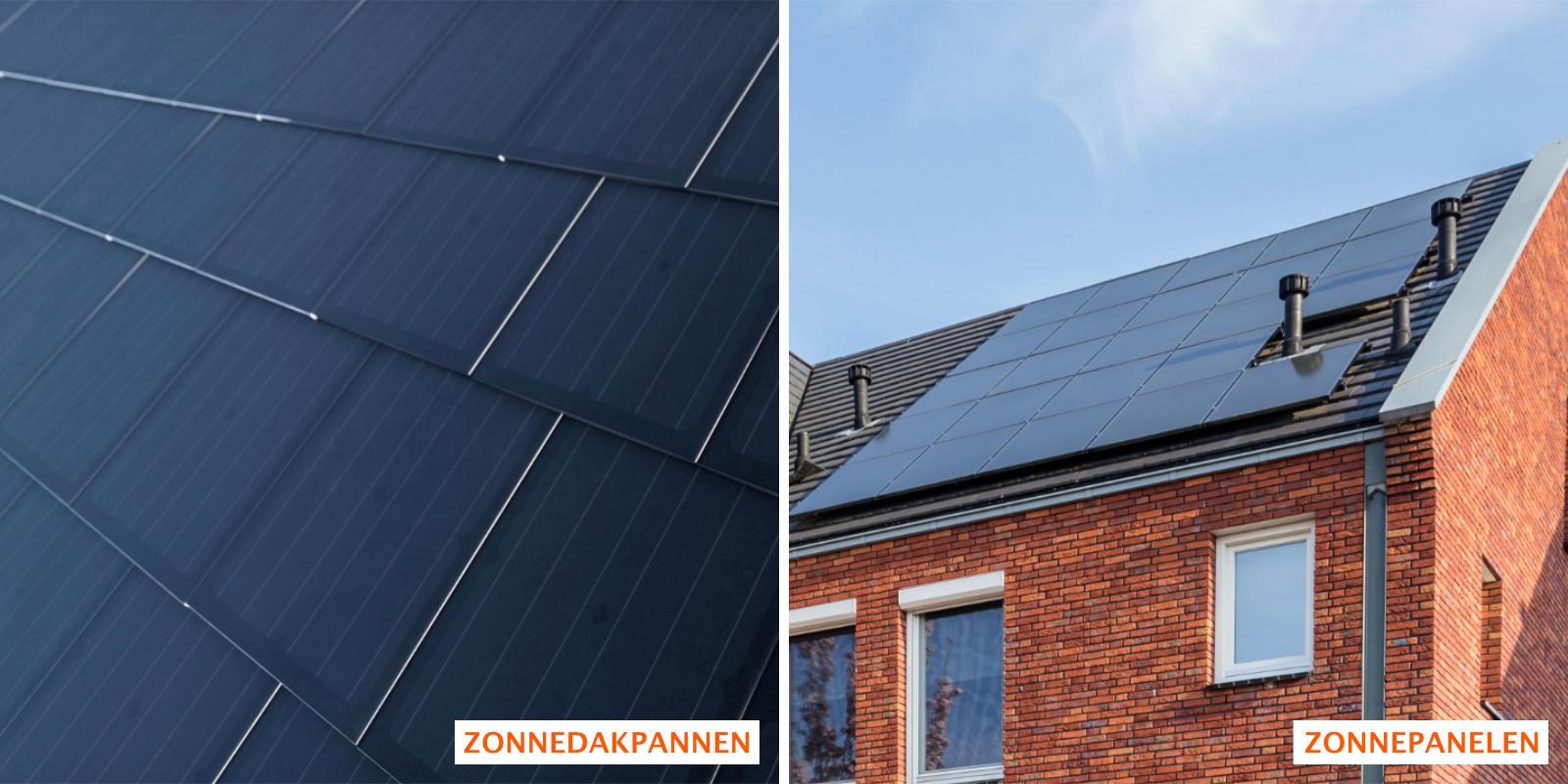 verschil zonnedakpannen en zonnepanelen