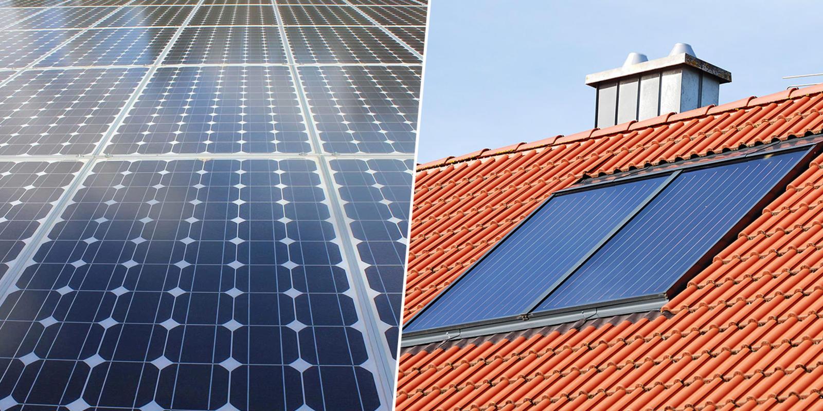 zonnepanelen en zonneboiler