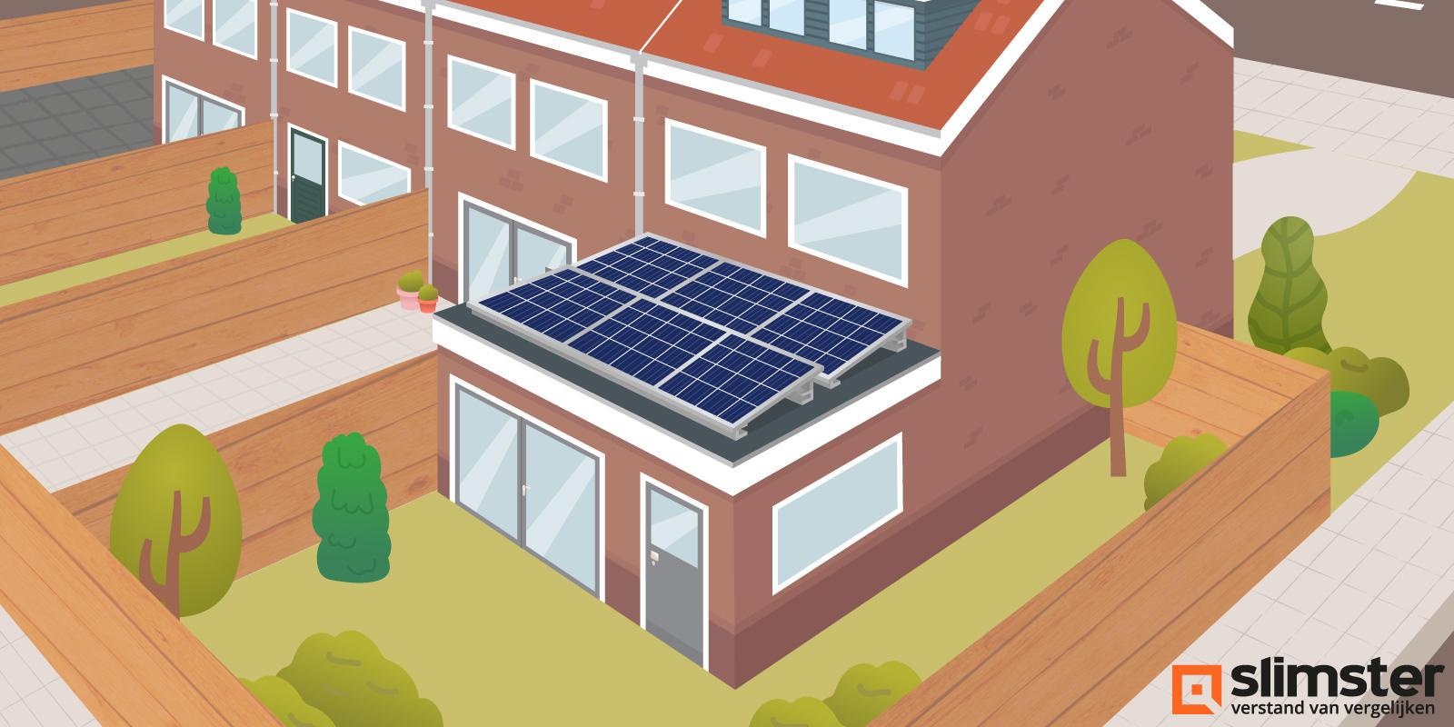 zonnepanelen op aanbouw