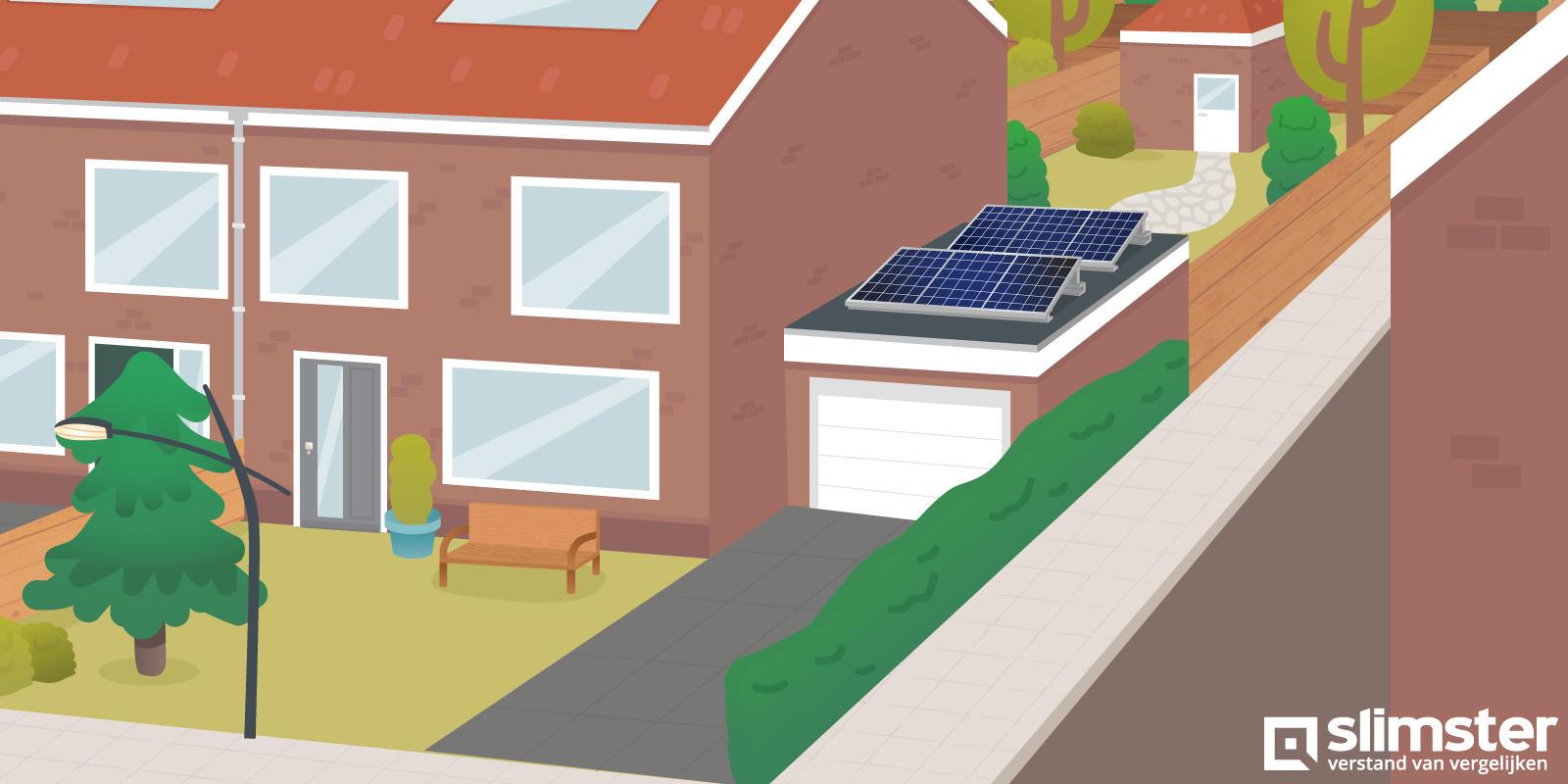 zonnepanelen op garage