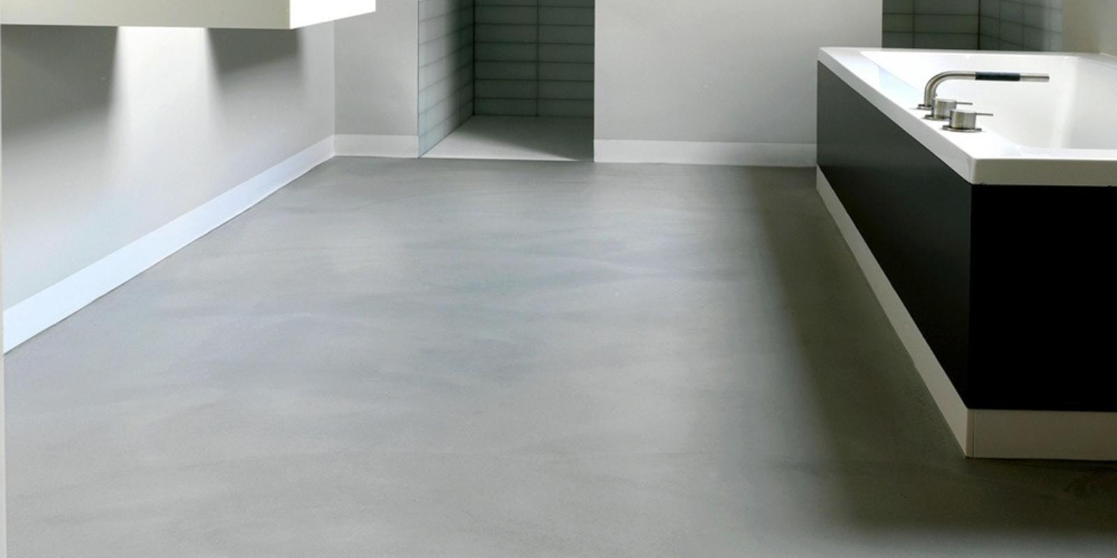 badkamer betonlook vloer