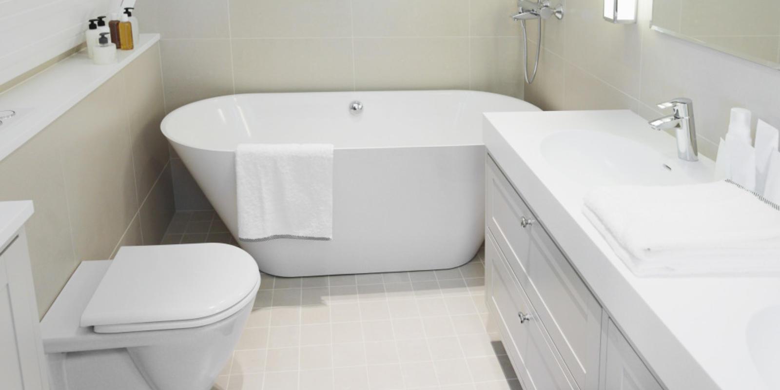 zeer kleine badkamer