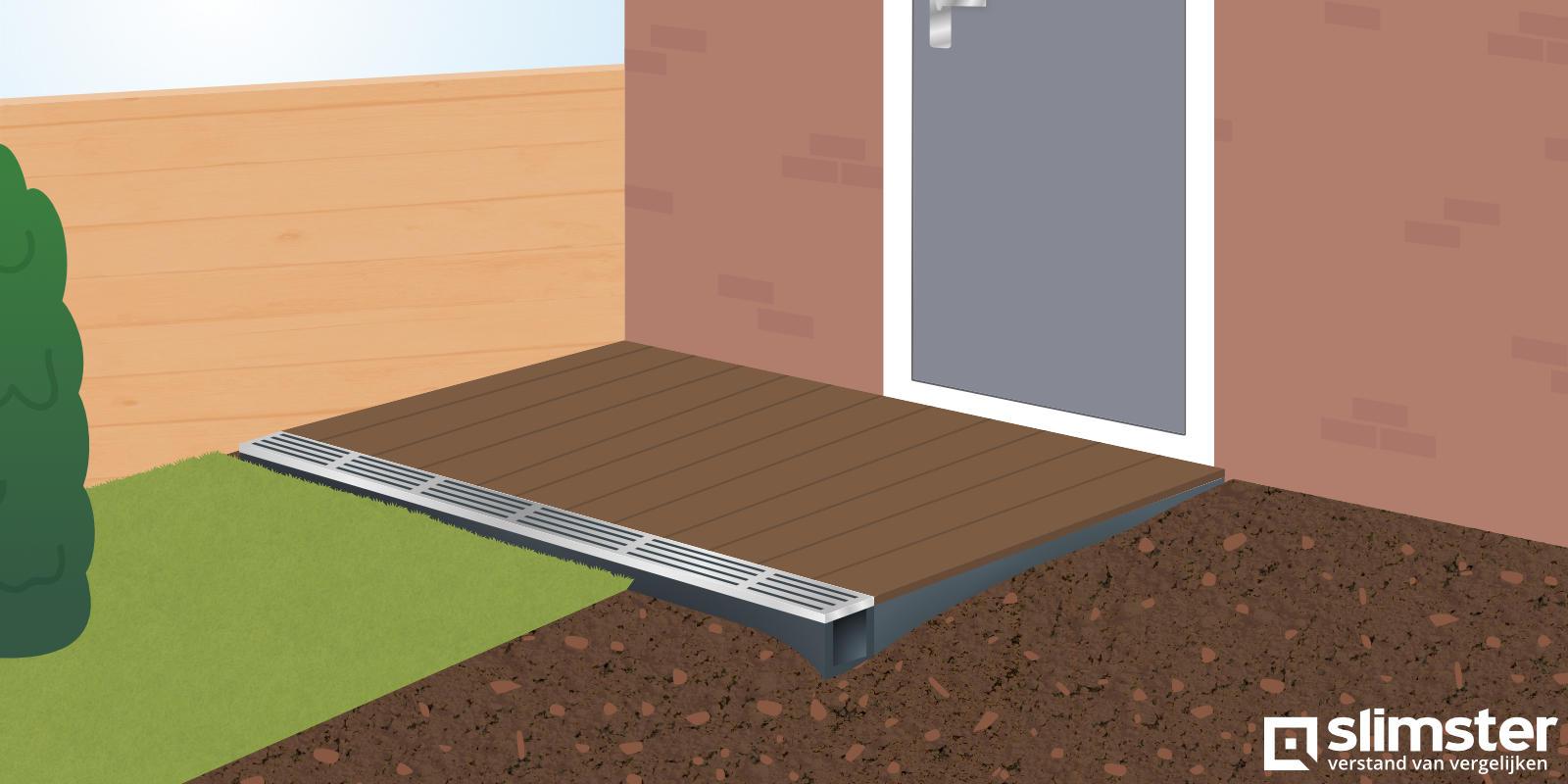 Ondergrondse regenwater opvangbak