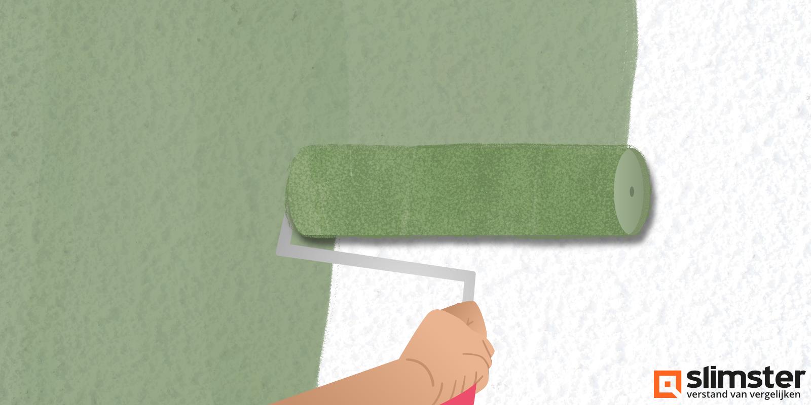 spachtelputz verven muur