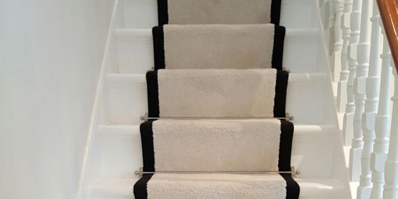 witte trap met traploper