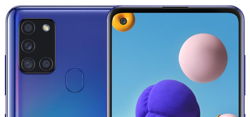 blauwe telefoon samsung