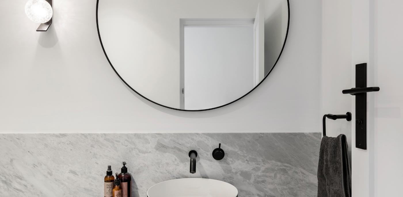 Grijs-witte badkamer voorbeelden