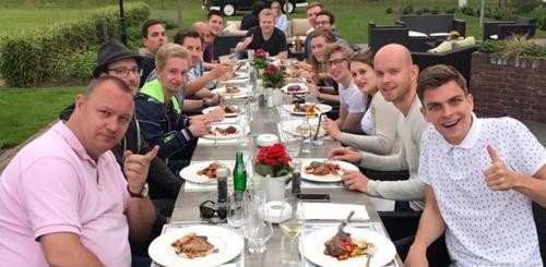 Dineren na bedrijfsuitje in Zwolle