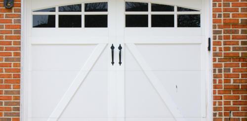 dubbele garagedeur hout
