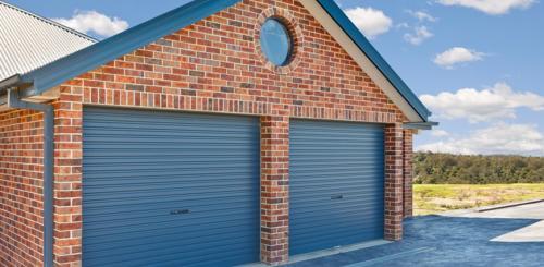 dubbele stalen garagedeur