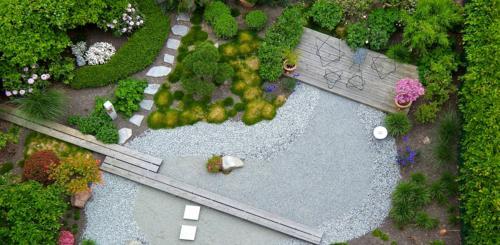 Ronde vorm kleine tuin