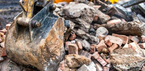stenen afvoeren