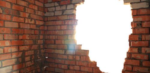 opening maken in niet dragende muur