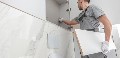 badkamer slopen en installeren