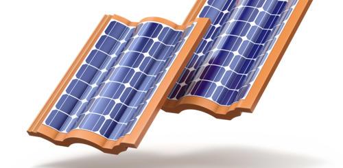 dakpannen met zonnecellen