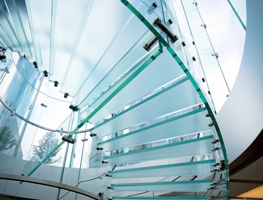 Glazen trap kosten