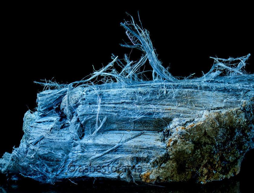 Blauwe asbest