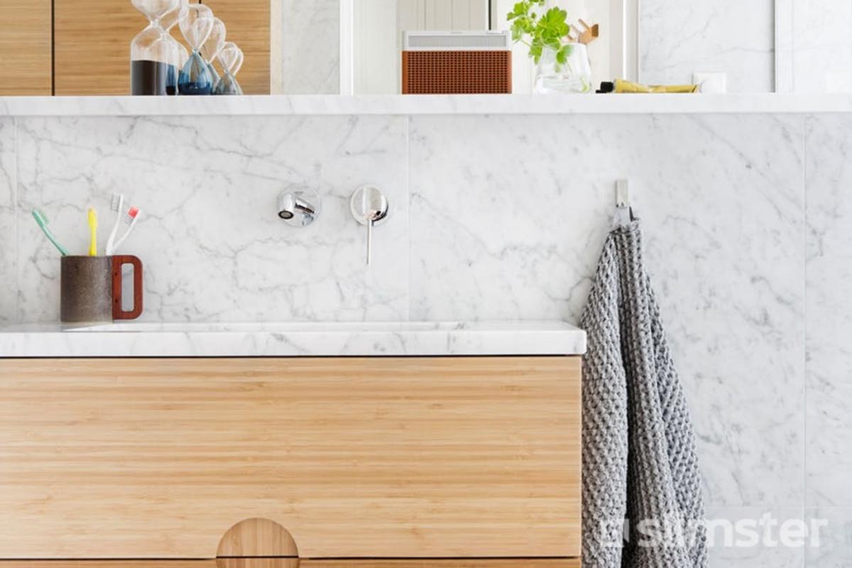 Badkamer Hout Natuursteen : Natuursteen badkamer voorbeelden inspiratie slimster