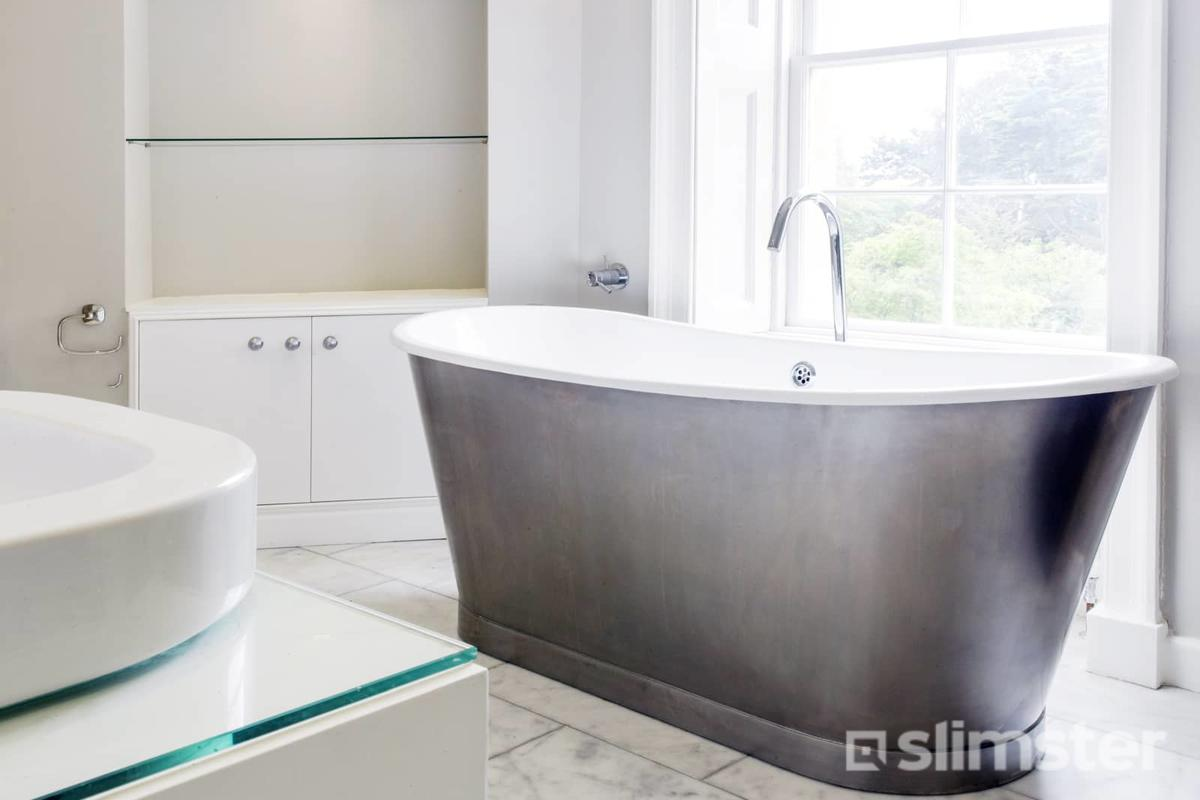 Badkamer Grijs Wit Hout.Grijs Witte Badkamer Voorbeelden Inspiratie Slimster
