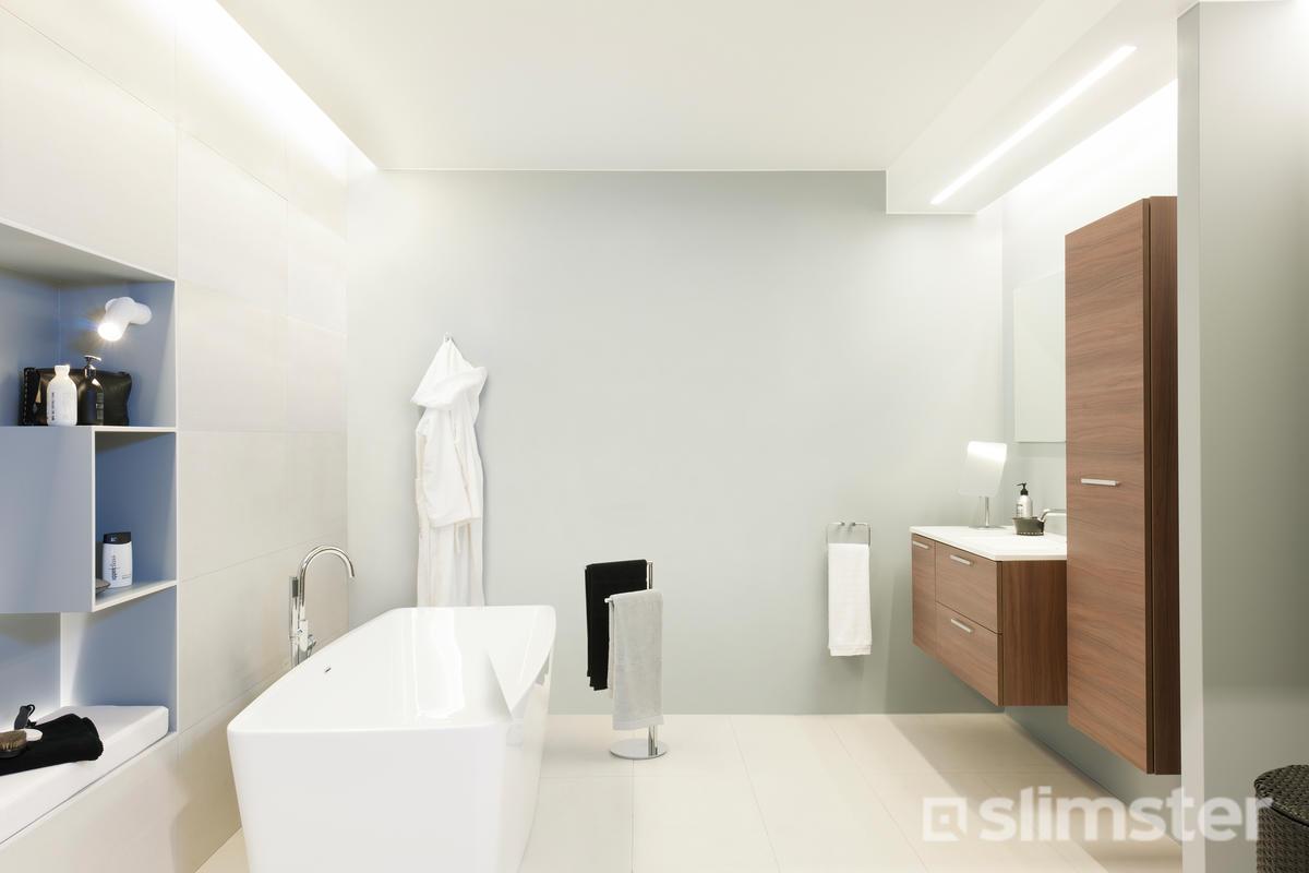 Badkamer laten stucen | Kosten & mogelijkheden | Slimster