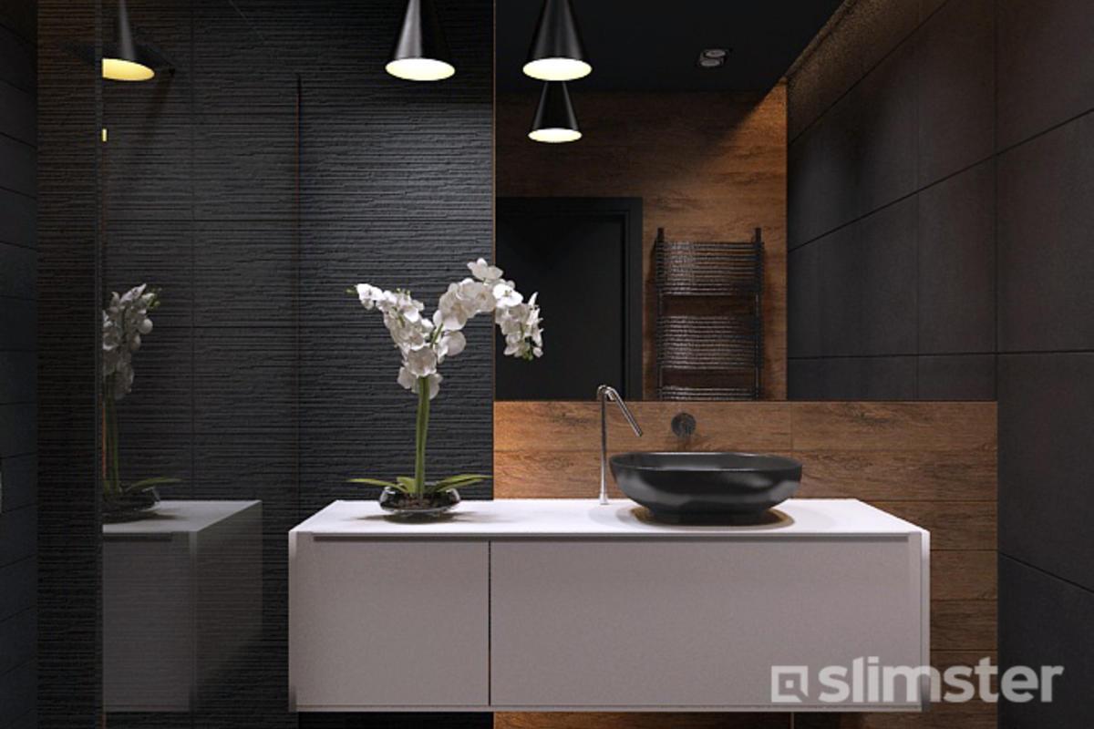 Trendy Kleuren Badkamer : Zwarte badkamer voorbeelden inspiratie slimster