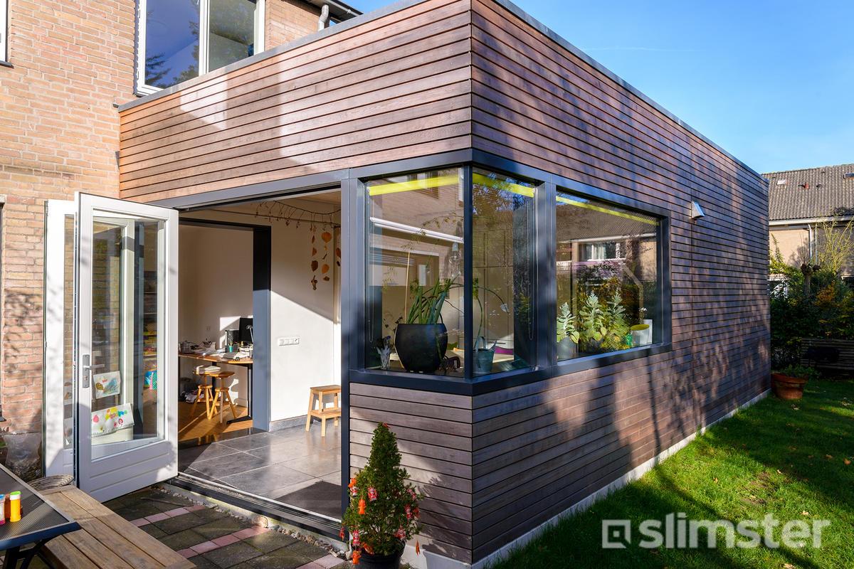 Aanbouw hout great houten aanbouw landelijke stijl with