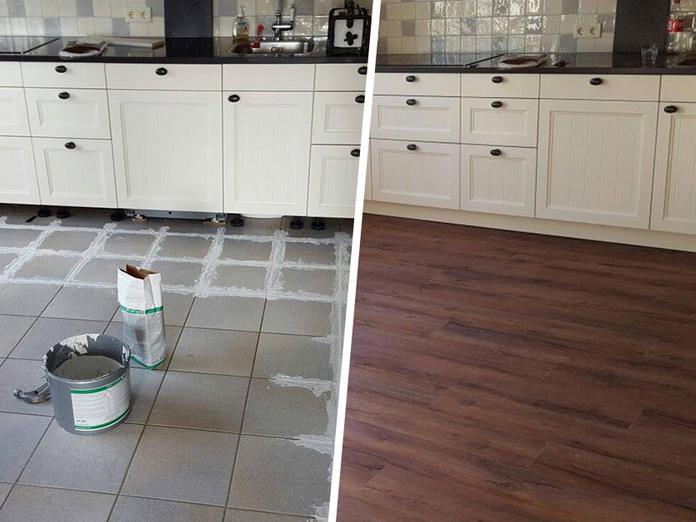 Laminaat Over Tegels : Nieuwe vloer op bestaande vloer leggen: 8 opties slimster blog