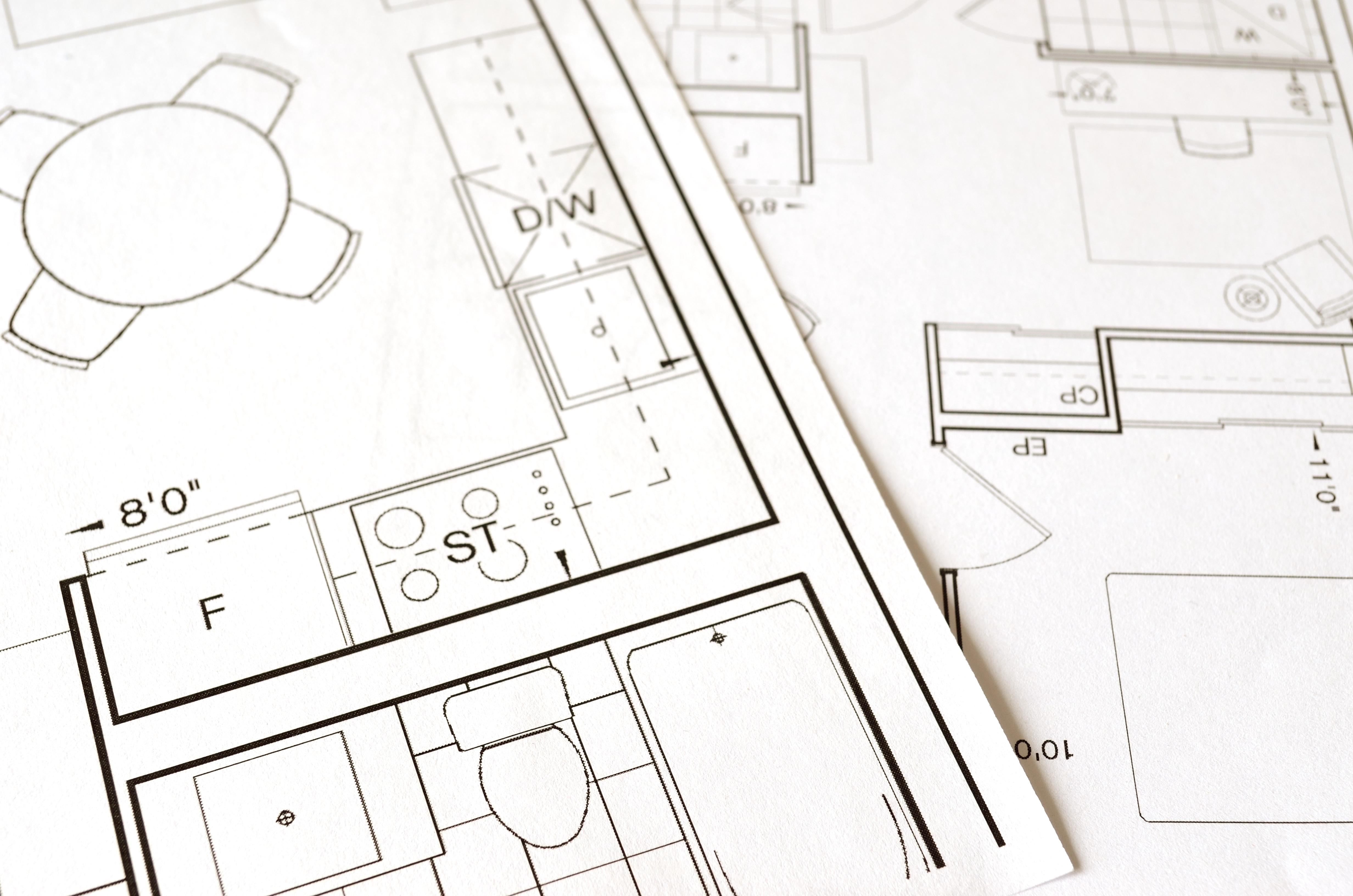 2d-tekening keuken