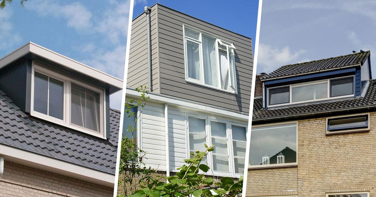 Verschil tussen dakkapel, dakopbouw en nokverhoging