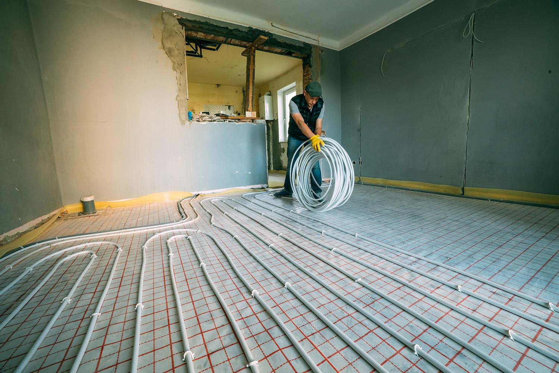 vloerverwarming houten vloer